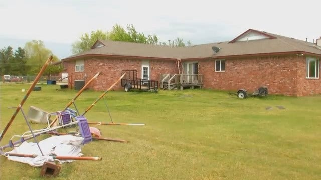 WEB EXTRA: Video Of Tulsa County Storm Damage Near Collinsville