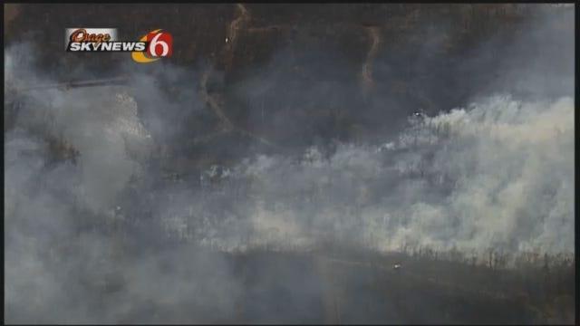 WEB EXTRA: Osage SkyNews 6 Footage Of Kellyville Wild Fire
