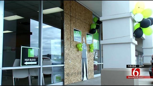Sapulpa Tax Office Keeps Working After Car Runs Into Building