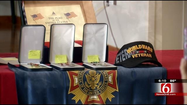 Claremore Veteran Gets Replacement WWII Medals On Birthday