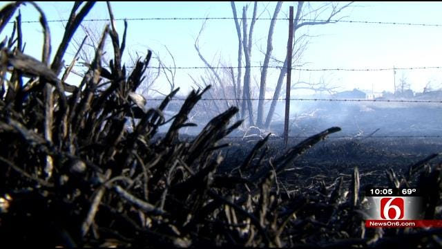 Skiatook Fire Rekindles, Burns Several Acres