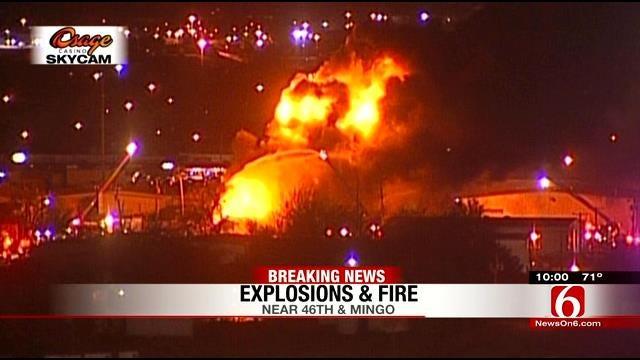 Tulsa Building Explodes, Bursts Into Flames