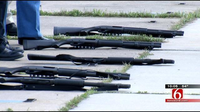 Police Chaplains Get Weapon Training At Sapulpa Shooting Range