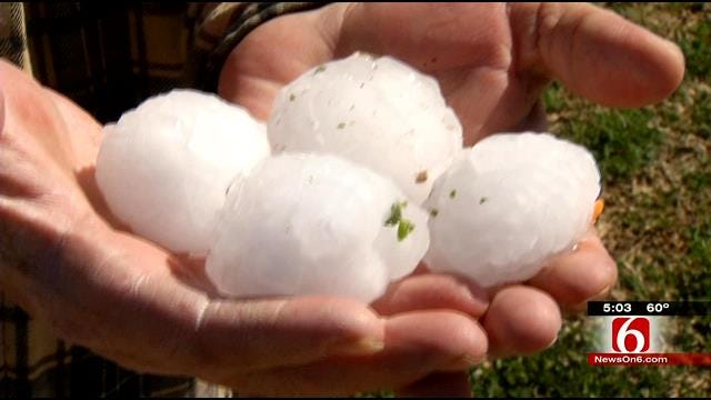 Checotah Hammered By Hail, Severe Storms