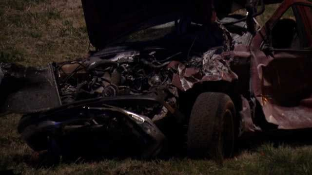 WEB EXTRA: Video From Scene Of Fatal Crash In West Tulsa