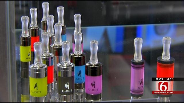 Several Oklahoma Cities Ban E-Cigs On Public Property