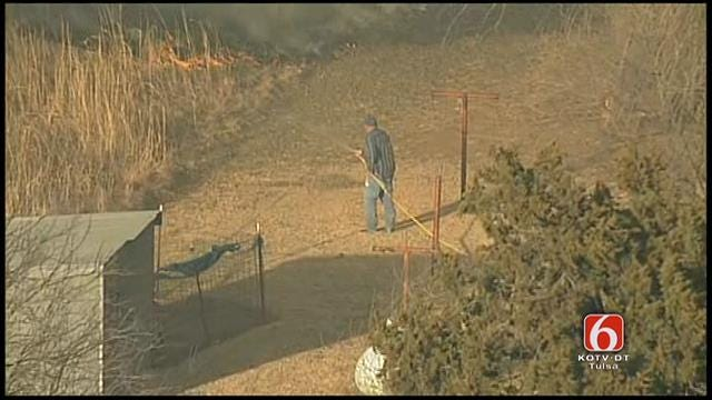 WEB EXTRA: Osage SkyNews 6 Over Hallett Grassfire