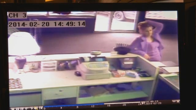 WEB EXTRA: Surveillance Video Of Couple Stealing From Vapor Store