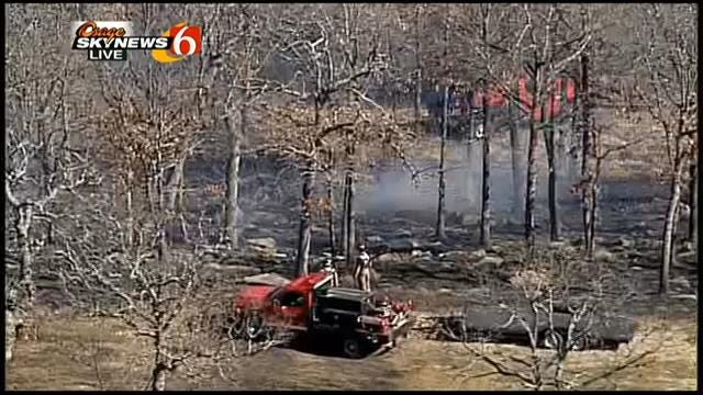 Osage Skynews 6: Brush Fire Just East Of Sapulpa