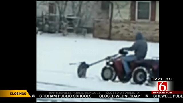 Pawhuska Man Uses Ingenuity To Make DIY Snowplow
