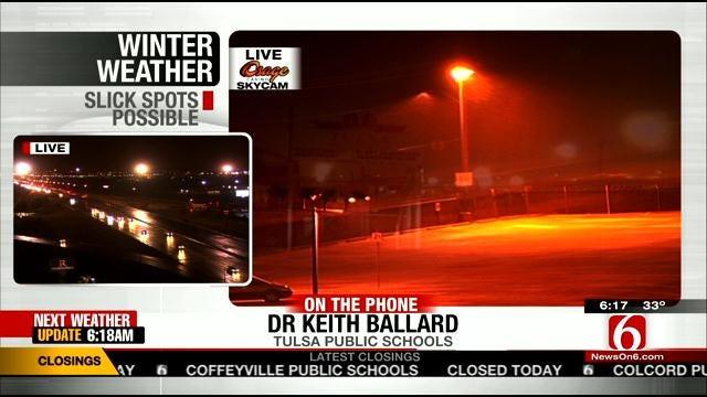 WEB EXTRA: Tulsa Public School Superintendent Dr. Keith Ballard Talks About Decision To Keep Schools Open Tuesday