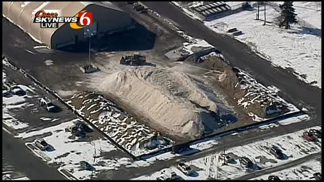 Osage Skynews 6 Flies Over Tulsa Winter Sand Supply