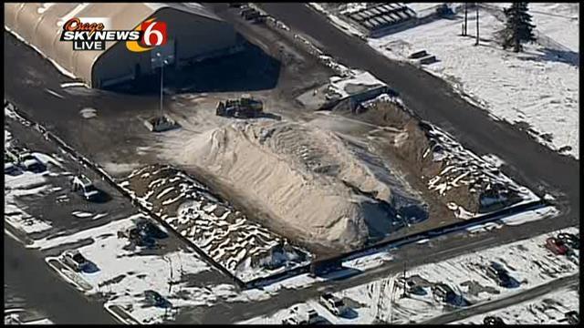 Osage Skynews 6 Flies Over Tulsa Winter Sand Supply