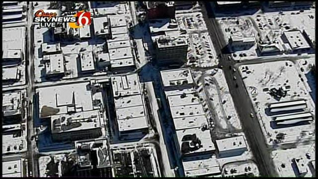 WEB EXTRA: Osage Skynews 6 Flies Over Muskogee Snow