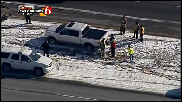 WEB EXTRA: Osage Skynews 6 Flies Over Tangle On Highway 75