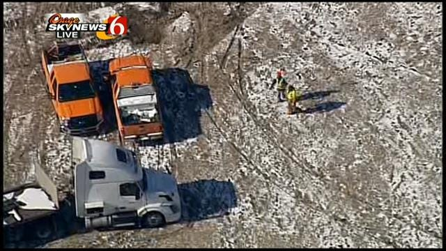 WEB EXTRA: Osage Skynews 6 Flies Over North Tulsa Road Project