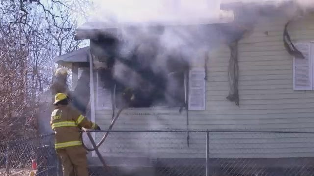 WEB EXTRA: Firefighters Respond To Mounds House Fire