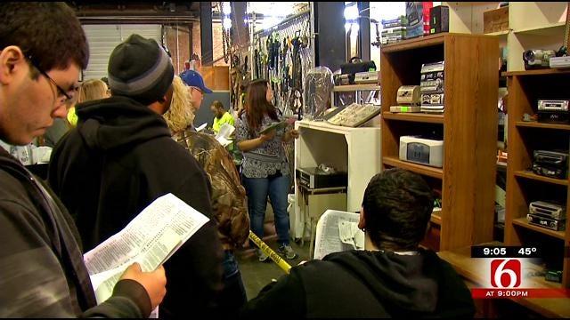 Bargain Shoppers Hit It Big At Tulsa's Surplus Auction