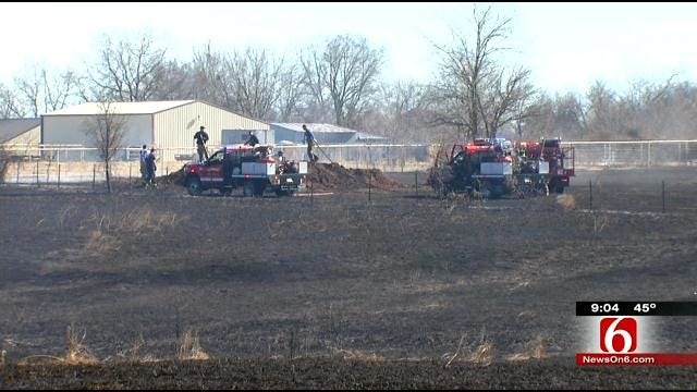 Verdigris Firefighters Knock Down Wildfire