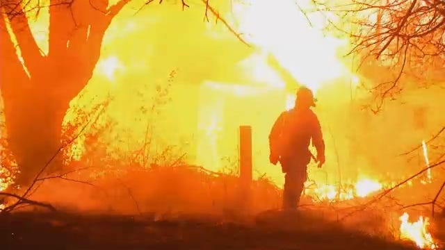 WEB EXTRA: Footage From The Sapulpa House Fire