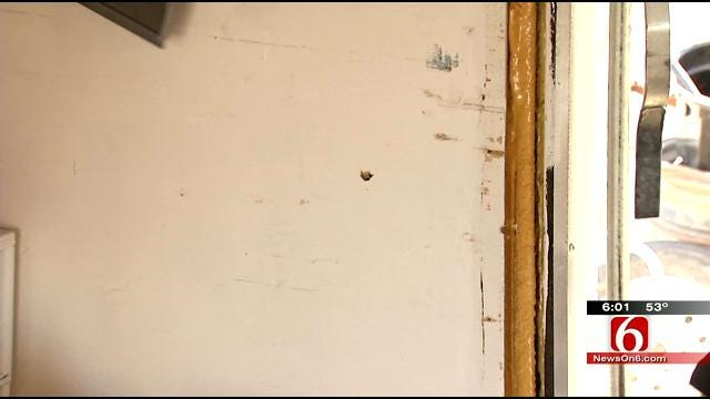 Stray Bullet Hits Rogers County Man