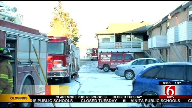 Tulsa Firefighters Respond To Second Fire At Apartment Building