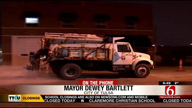 WEB EXTRA: Tulsa Mayor Dewey Bartlett Give Snow Removal Update