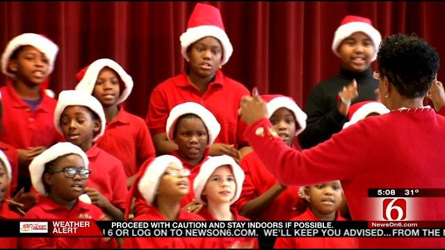 Hawthorne Elementary Students Get New Track For Christmas