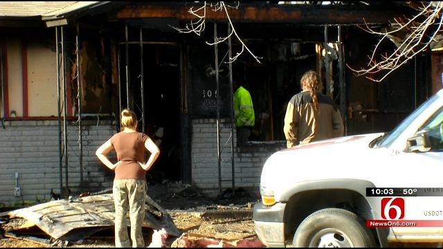Mannford Grass Fire Victims Lose Another Home In East Tulsa Fire