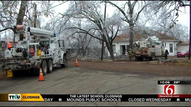 Disaster Relief Teams Helping Southern Part Of State Recover From Ice Storm