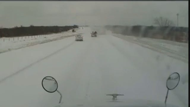 WEB EXTRA: Dashcam Video Of Fed-Ex Truck Wreck On I-40