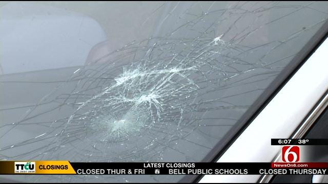 Woman Says Someone Threw Rock At Her Car From I-244 Overpass