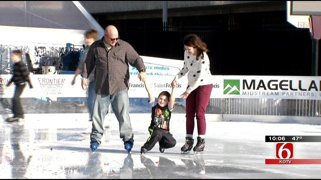 Winterfest Ice Rink Opens In Downtown Tulsa