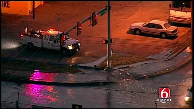 Osage SkyNews 6: Water Main Break At 61st And Garnett