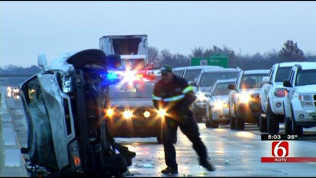 Multiple Crashes Snarl Morning Traffic In Green Country