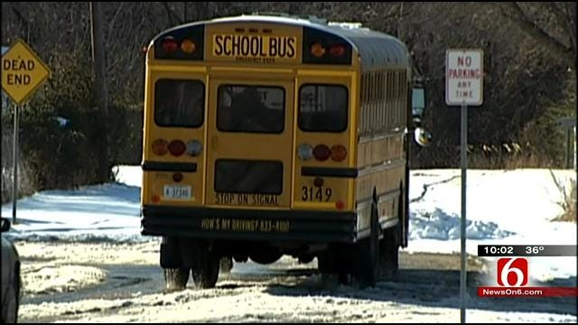 Tulsa School Administrators Eye Icy Friday Morning Forecast