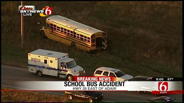School Bus Collides With Jeep East Of Adair