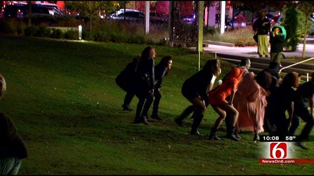Dancers Get 'Thrilled For The Cause' At Halloween On Tulsa's Guthrie Green