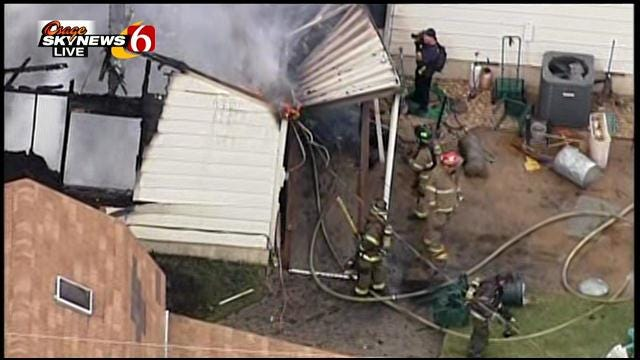Osage SkyNews 6: House Fire On Easton In Tulsa