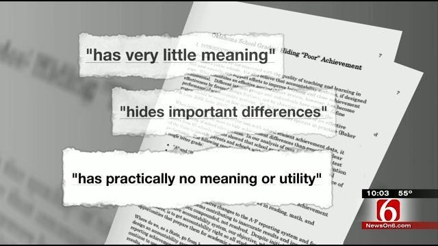 University Study Discredits Oklahoma's A-F Grading System For Schools