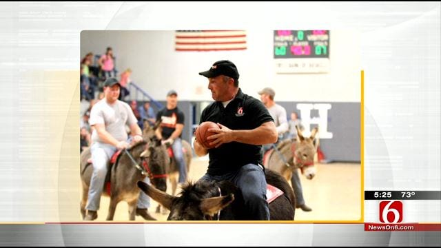 Donkey Basketball Game Raises Money For Haskell Schools
