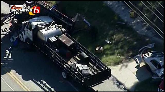 WEB EXTRA: Osage Skynews 6 Flies Over Tulsa Wreck