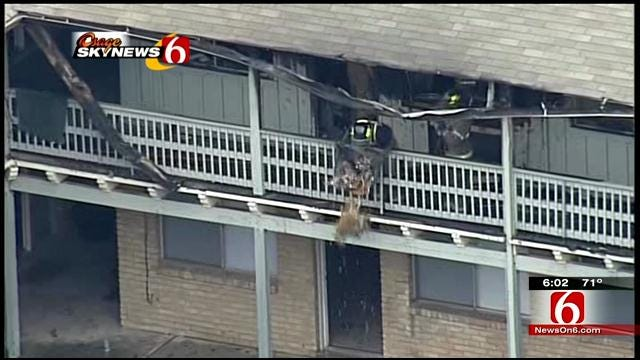 Multiple Units Damaged In Fire At Tulsa's London Square Apartments
