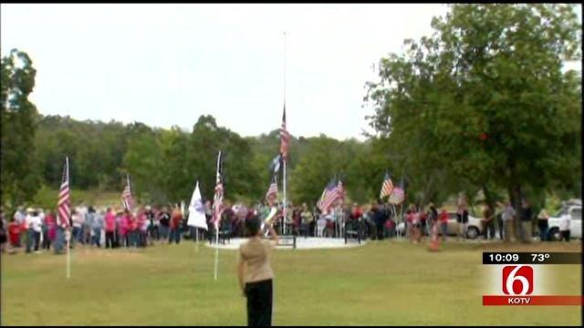 Memorial Near Lake Claremore Dedicated To Memory Of Fallen Soldier