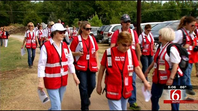 Red Cross Volunteers Run Disaster Drill In Broken Arrow