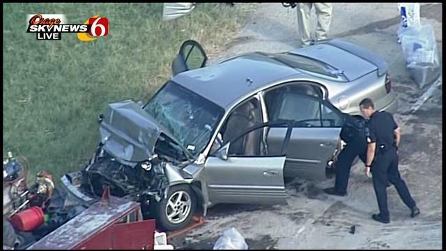 Osage SkyNews 6 Flies Over Wreck On Highway 75
