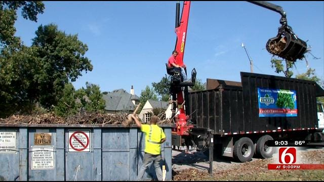 Tulsa Landscaping Company Volunteers Services For Debris Cleanup