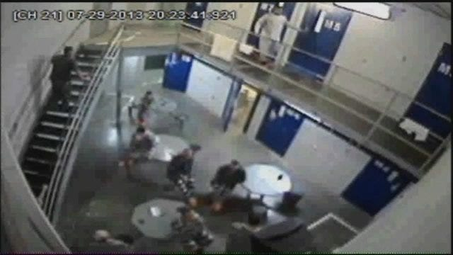 WEB EXTRA: Wagoner County Jail Surveillance Video From 7-29-2013 Jail Escape
