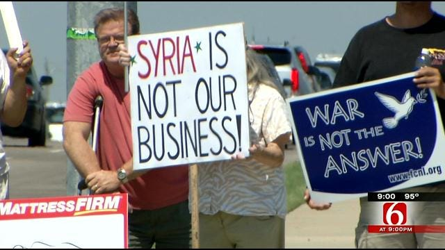 Oklahomans Protest Possible U.S. Military Action In Syria
