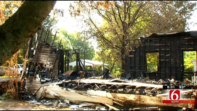 Okay Congregation Counts Blessings After Fire Destroys Historic Church